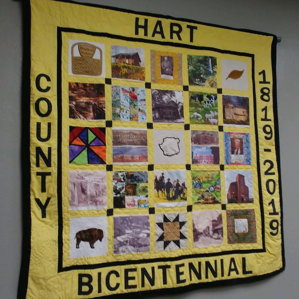 Bicentennial Quilt on Display at Chamber's New Office