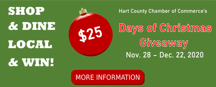 Shop & Dine Local & Win $25 Days of Christmas Giveaway (PDF)